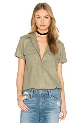 Frame Denim Le Military Button Up Olive