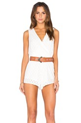 Toby Heart Ginger Stella Sheer Billow Front Romper White