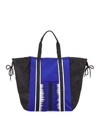 Gx By Gwen Stefani Ida Neoprene Tote Bag Cobalt Black White