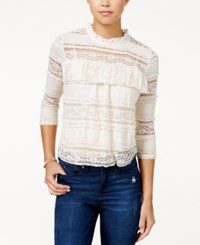 American Rag Lace Mock Neck Top Only At Macy's Cream