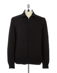 Calvin Klein Jeans Zip Up Cardigan Sweater Black