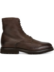 Brunello Cucinelli Lace Up Ankle Boots Brown