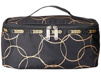 Lesportsac Luggage Deluxe Travel Case Gold Links Travel Pouch Black