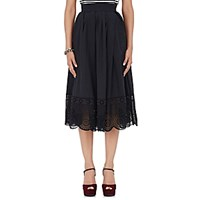 Marc Jacobs Women's Vinyl Eyelet Midi Skirt Black Blue Black Blue