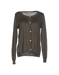 Jeordie's Knitwear Cardigans Women Military Green