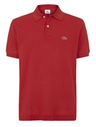 Lacoste Pique Men S Short Sleeve Polo Red