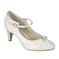 Paradox London Pink Cupcake Vintage Lace Court Shoes Ivory