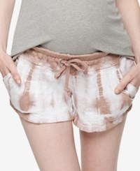 A Pea In The Pod Tie Dye Maternity Shorts Dusty Rose Mauve