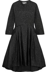 Studio Nicholson Effie Oversized Cotton Blend Matelasse Dress Black