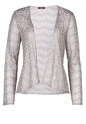 Vera Mont Crochet Jacket With Waterfall Front Grey