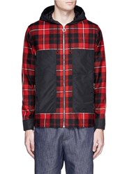 Tim Coppens Check Plaid Hooded Shirt Jacket Multi Colour