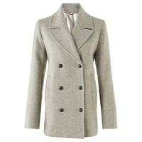 Jigsaw Pea Coat Grey