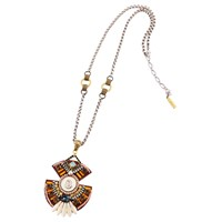 Niino Jewelry Tribal Geometric Pendant Necklace Multi