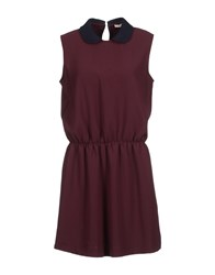 M.Grifoni Denim Dresses Short Dresses Women Maroon