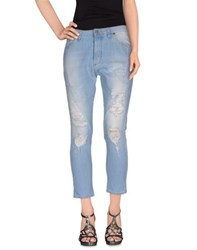 Please Denim Denim Trousers Women Blue