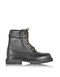 Balmain Taiga Black Leather Ranger Boot