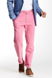 Peter Millar Raleigh Flat Front Washed Pant Red