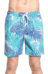 Men's Brooks Brothers 'Palm Montauk' Swim Trunks Light Pastel Blue