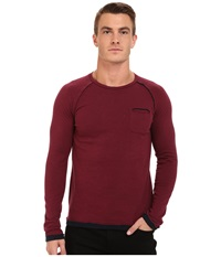 Mavi Jeans Long Sleeve Bright Wine Men's Clothing Red