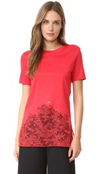 Nina Ricci Jersey Short Sleeve Top Bright Red