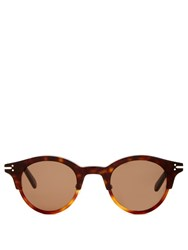Celine Sunglasses Julia Bi Color Round Frame Sunglasses Tortoiseshell