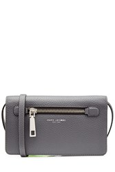 Marc Jacobs Leather Wallet With Shoulder Strap Grey