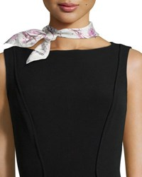 Anna Coroneo Flowers Silk Square Scarf Rose