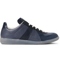 Maison Martin Margiela Replica Leather Sneakers Blue