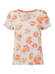 Dickins And Jones Peony Floral Print T Shirt Grey