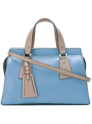 Giorgio Armani Large Tote Bag Blue