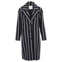 Selected Striped Cocoana Coat