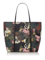 Linea Floral Tote Bag Green