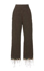 Isa Arfen Classic Feather Pants Brown