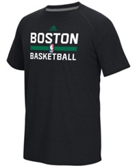 Adidas Men's Boston Celtics On Court Graphic Climalite T Shirt Black