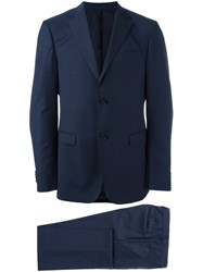 Z Zegna Fitted Dress Suit Blue