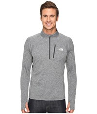The North Face Impulse Active 1 4 Zip Pullover Tnf Medium Grey Heather Asphalt Grey Men's Long Sleeve Pullover Gray