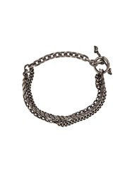 M Cohen M. Braided Chain Bracelet Metallic