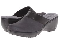 Softwalk Murietta Black Distressed Nubuck Leather Women's Clog Shoes Gray