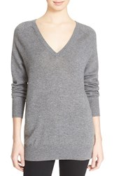 Women's Equipment 'Asher' V Neck Cashmere Sweater Heather Grey