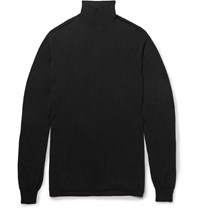 Rick Owens Oversized Wool Rollneck Sweater Black