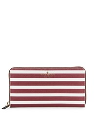 Kate Spade Lacey Striped Wallet Merlot Cream