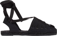 Tomas Maier Lace Up Espadrilles Black