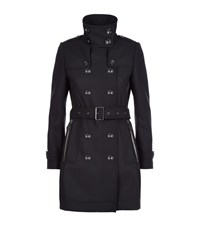 Burberry Brit Daylesmoore Wool Twill Trench Coat Female Black