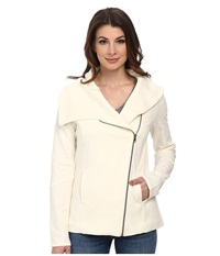 Nydj City Sport Cozy Moto Jacket Vanilla Women's Coat Bone