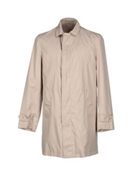 Luciano Barbera Full Length Jackets Ivory
