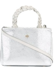Marcel Seraphine Braided Handle Tote White