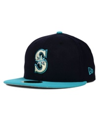 New Era Seattle Mariners Mlb Cooperstown 59Fifty Cap Navy Teal