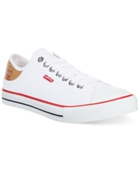 Levi's Stan Lace Up Sneakers Men's Shoes White Brown