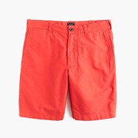 J.Crew 9' Stanton Short In Garment Dyed Oxford Cloth Rusty Brick