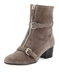 Tabitha Simmons Stirling Shearling Fur Lined Suede Zip Ankle Boot